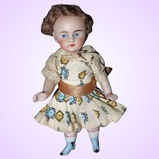 German All bisque Doll 3 3/4 inches