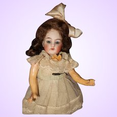 German Bisque Petite Flapper Doll