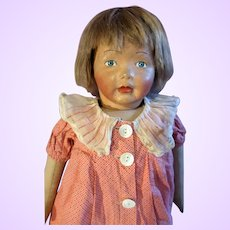 Kamkins  Cloth Doll in Red Check Dress