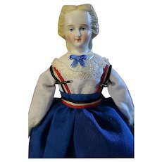 Bisque Shoulder head doll molded collar