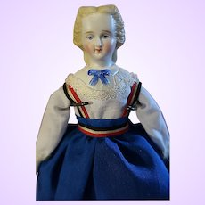 Bisque Shoulder head doll molded collar