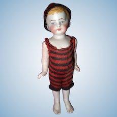 Cute All Bisque Bathing Boy doll