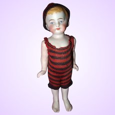 Cute All Bisque Bathing Boy doll