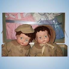 Effanbee Sweetie Pie Twins Original box