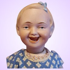 Recknagel Laughing Character Bisque Girl doll