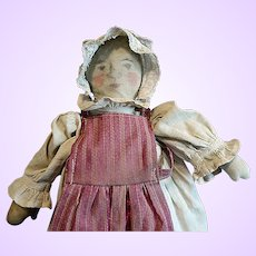 Early Folk Doll with drawn face