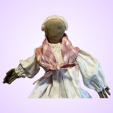 Cloth Folk Doll with extra  Mask Faces