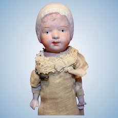Paper Mache Doll with molded hat
