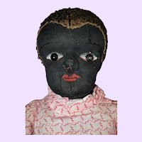 Black Cloth Beecher Type Doll