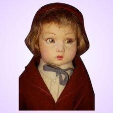 Lenci Boy Doll with Tagged Clothing