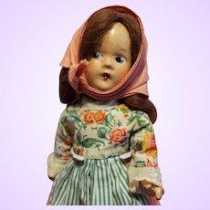 Madame Alexander Composition Peasant Doll A/O