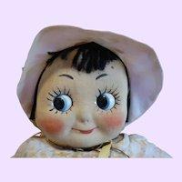 Muschi Googly German Cloth Doll