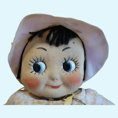Muschi Googly German Cloth Doll