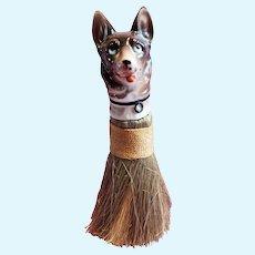 China Half doll Dog with brush