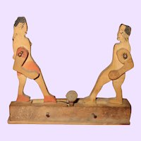 Early Wood Boxers Boxing Toy