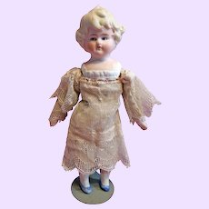 Hertwig Bisque Doll with molded collar