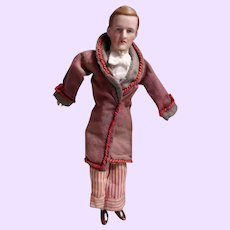 German Doll House Man in Smoking Jacket