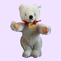 Steiff White Teddy Bear with tags