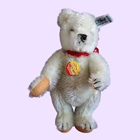 Small White Steiff Teddy Bear tagged