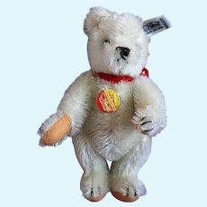 Small White Steiff Teddy Bear tagged