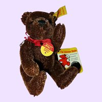 Steiff Small Brown teddy Bear tagged