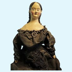 Huge 22 inch Early Paper Mache Milliner Doll