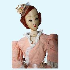 Cloth Boudoir Bed doll 1920's