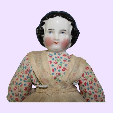 Early China Doll 1860 hairdo
