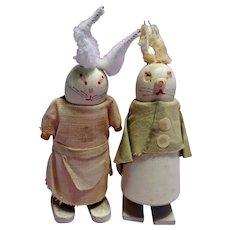 Bunny Rabbit Ramp Walker Dolls
