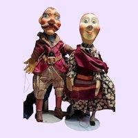 WPA Philadelphia Paper Mache Hand Puppets