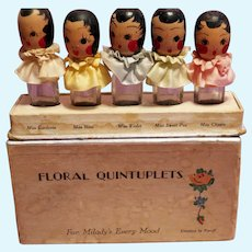 Floral Quintuplets Perfume dolls in original box