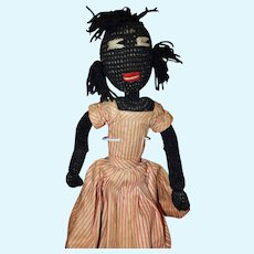 Early Knit Doll 22 inches 1930's