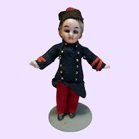 German All bisque Boy doll all original