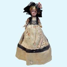 French bisque doll on bonbon box