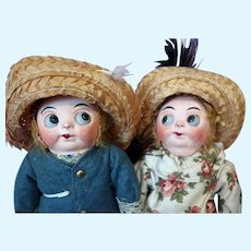 Rare Pair Mask Face Googlys Hug Me Kiddies