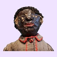 Very Early Paper Mache Folk Art Doll