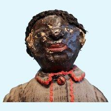 Very Early Paper Mache Folk Art Doll