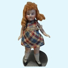 German All Bisque Girl in Plaid