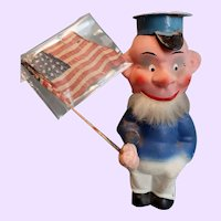 Paper mache Patriotic Bobble head doll