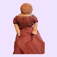 Early Home Made Cloth Folk Doll