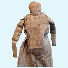 Early Cloth Folk Doll probably made by a child