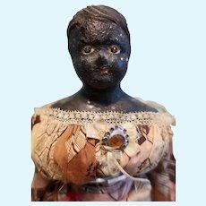 Rarer Black Milliners Model Paper mache doll