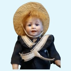 German All Bisque Character Boy Doll