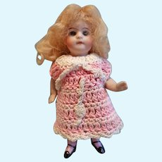 German All Bisque Doll marked 30 4. 3 1/2