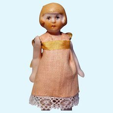 German All Bisque Flapper Doll