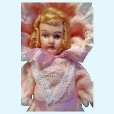 Small all original German Bisque doll