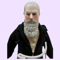 Rare long bearded Doll House Grandfather