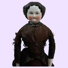 1860 China doll in original lining of dress