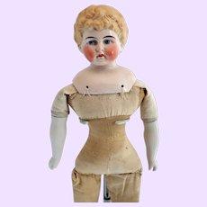 Kling marked Blond china head doll
