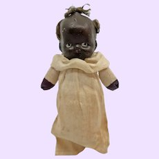 Adorable 4 inch Black Bisque Doll
